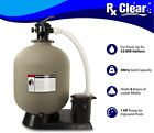 Rx Clear Radiant 24 In Ground Swimming Pool Sand Filter System w 1 HP Pump
