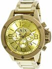 Armani Exchange Men's AX1504 Gold Stainless-Steel Plated Dress Watch