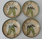 SET 4 Fitz & Floyd Classics Le Marche Side Hors d' Oeuvres Plates PEAS UNUSED