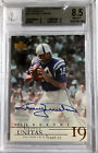 JOHNNY UNITAS 2001 UD LEGENDS ON CARD AUTO #JU BGS 8.5 10 *0.5 SUB FROM BGS 9*