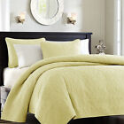 NEW Twin XL Full Queen King Size Coverlet Quilt 3 pc Set Blanket Yellow Heirloom
