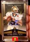 DREW BREES 2012-2013 PANINI SUPER BOWL BLACK BOX DIAMOND AUTO #1 1 SAINTS