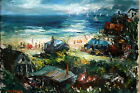 Provincetown Painting  Artist David Pollack Large Beach Scene  Oil on canvas