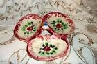 VINTAGE CHIC FAIENCE HP DISH SHABBY JAPAN COTTAGE PINK COTTAGE