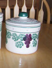 Pottery CA CROCK SHOP 1 ea Small Canister Grape Green Leaf w Lid or Lid Only