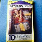 Pattern Simplicity House # 123 10 Table Covers Napkins Placemats