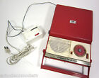 Vtg Delmonico Nivico Portable Record Player & Transistor Radio Red TRP-29 Japan