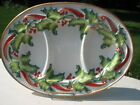 FITZ & FLOYD ESSENTIALS NOEL CLASSIQUE DIVIDED SERVING PLATTER
