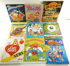 Lot of (23) Unused Sticker Albums ^ Smurfs Care Bears New Archies WWF Chip Dale