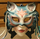 HAND PAINTED MARDIGRAS MASK  by CLAY ART 1988