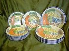 TABLETOPS UNLIMITED PESCADA - 5 DINNER PLATES, 6 SALAD PLATES & 1 RIM SOUP BOWL