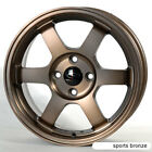 SPORT BRONZE 15X65 +38 ROTA GRID 4X100 RIM FIT CIVIC MIATA INTEGRA MINI COOPER