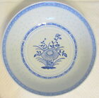 Chinese Pottery Bowl Blue Trim Made in China