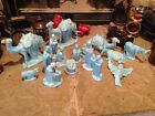 Blue holland mold nativity scene