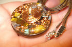 38mm  ENERGY  ORGONE  PENDANT  CRYSTAL  COPPER   PROTECTION   POSITIVE  ENERGY