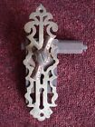 Architectural Salvage Gothic Door Knob, Backplate and lock