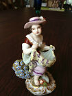 ANTIQUE DRESDEN HELENA WOLFSOHN LADY FIGURINE LATE 1800's