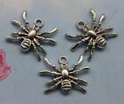 Retro Style Small Spider Alloy Charms Pendants 1419mm