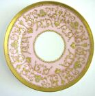 Antique Coalport Plate Signed Jeweled Gold Beading Turquoise White Pearl