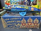 TOM CORBETT SPACE CADET SPARKLING SPACE SHIP POLARIS WINDUP N MINT BOXED BY MARX