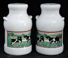 Vintage Milk Can  Cows Salt  Pepper Shakers