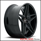 22 BLAQUE DIAMOND BD8 CONCAVE WHEELS RIMS BLACK FITS NISSAN MURANO