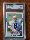 1989 Topps Traded #70T Troy Aikman RC AGS Mint 9!!!!!