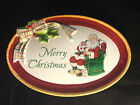 NIB Fitz and Floyd Santa's Dear Santa Merry Christmas sentiment tray - free ship