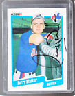 *LARRY WALKER* 1990 Fleer Hand-Signed Auto RC MONTREAL EXPOS