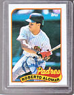 *ROBERTO ALOMAR* 1989 Topps Hand-Signed Auto SAN DIEGO PADRES