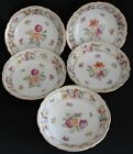 Empress Dresden Flowers by Schumann-Bavaria Set of 5 Fruit/Sauce Bowls 3 Motifsl