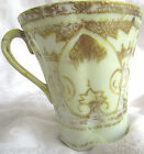 AntiqueNippon Cabinet Demitasse Moriage Gold Yellow Ivory Tea Cup