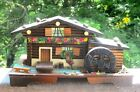 SWISS CHALET WATER WHEEL MUSIC JEWELRY BOX PLAYS YODELE FROM SOUND OF MUSIC