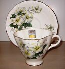 Windsor Bone China Teacup & Saucer-Dogwood Design-Made in England