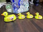 VINTAGE WIND UP DUCK TOY TIN DUCKLINGS TRAIN KIDS ANTIQUE OLD 50S 60S CHILDS EXC