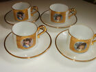 Rare Lot 4  J K W Fine Porcelain W Germany Portrait Cups / Sauce West Heinrich