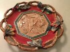 Fitz and Floyd Classics Christmas Lodge Fall Leaves & Holly Berries Canape Plate
