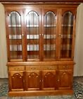 STICKLEY CHERRY CHINA CABINET Lighted, Beveled Glass, Solid Cherry VINTAGE