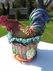 FITZ & FLOYD COQ DU VILLAGE MEDIUM ROOSTER CANISTER
