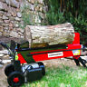 Electric Log Splitter Portable Hydraulic Firewood Cutter Cord Wood Stove Firepla
