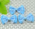 10PCS organza satin ribbon Bow Appliques Craft DIY & Wedding H564-3