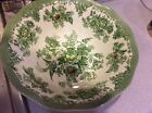 ENOCH WEDGWOOD KENT SERVING BOWL - GREEN FLORAL WITH BIRDS