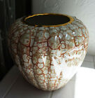 Yapacunchi 22k Gold trimmed Ecuadorian Handcrafted Pottery Vase