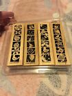 Stampin UP Stamps 2000 Bold  Bright Set Of 4