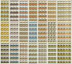 320 x Railway Train Stamp Sheets (Leaders of the World 14,820 Stamps) WHOLESALE