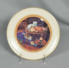 Pickard America's Finest China Hand Decorated Plate With Cats & Gold Trim