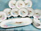 RARE Jean Pouyat LIMOGES HAND PAINTED FISH SET GRAVY TRAY France ANTIQUE c1890