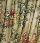 2 *Custom* Gathered/Pleated * Drape Panel Covington* Bosporus Toile* YOU Pick