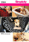 Simplicity 2984 Pattern - Dog Travel Accessories Car Seat/Seat Covers