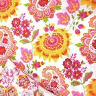 FLORAL PAISLEY QUEEN QUILT SHAMS & PILLOWS 5pc SET PINK YELLOW ORANGE RED